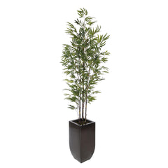 Artificial 7.5ft Black Bamboo Tree in Large Zinc - House of Silk Flowers®  - 4