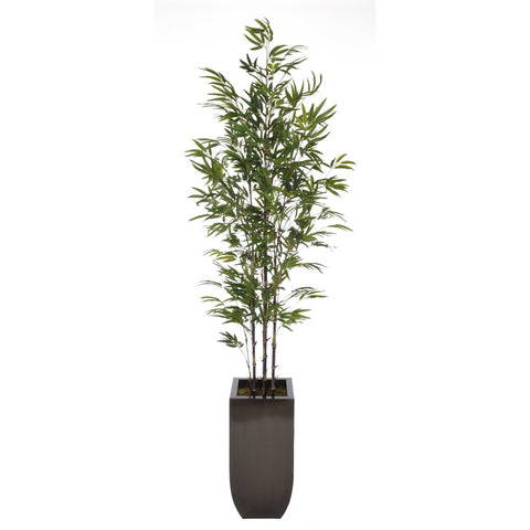 Artificial 7.5ft Black Bamboo Tree in Large Zinc - House of Silk Flowers®  - 5