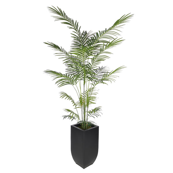 Artificial 7.5ft Areca Palm Tree in Large Zinc