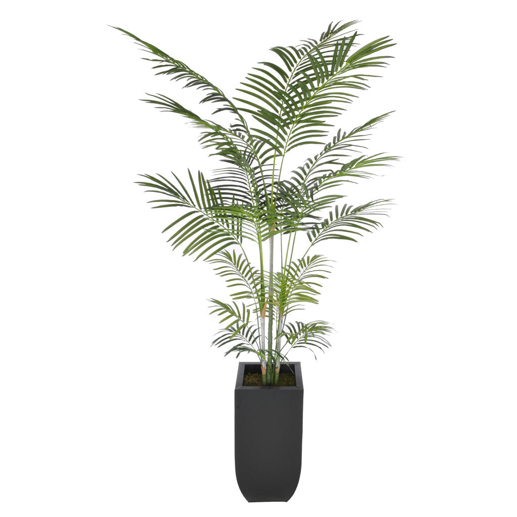 Artificial 7.5ft Areca Palm Tree in Large Zinc - House of Silk Flowers®  - 2