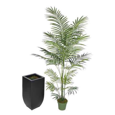 Artificial 7.5ft Areca Palm Tree in Large Zinc - House of Silk Flowers®  - 3