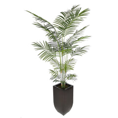 Artificial 7.5ft Areca Palm Tree in Large Zinc - House of Silk Flowers®  - 4