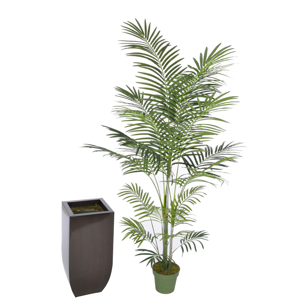 Artificial 7.5ft Areca Palm Tree in Large Zinc - House of Silk Flowers®  - 6