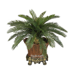 Artificial Baby Cycas Palm Tree in Brown Traditional Urn - House of Silk Flowers®  - 3