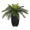 Artificial Cycas Palm in Black Zinc - House of Silk Flowers®  - 2
