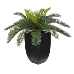 Artificial Cycas Palm in Black Zinc - House of Silk Flowers®  - 1