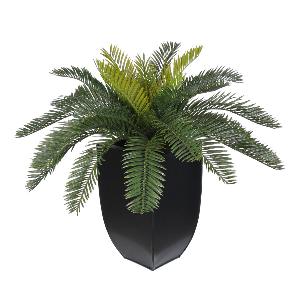 Artificial Cycas Palm in Black Zinc - House of Silk Flowers®  - 3