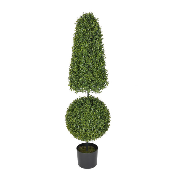 Artificial 3.5ft Boxwood Ball & Cone Topiary