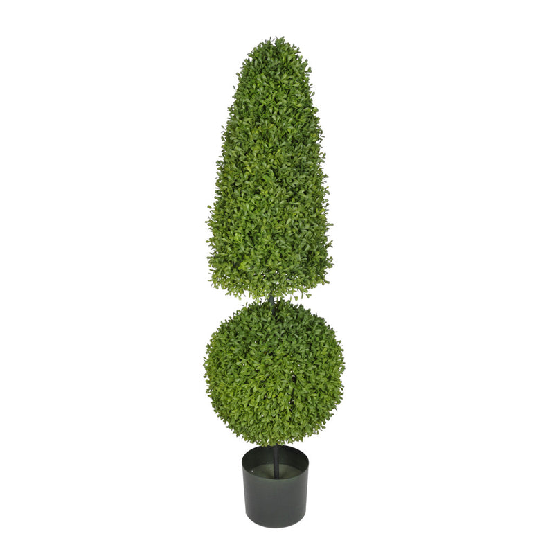 Artificial 3.5ft Boxwood Ball & Cone Topiary - House of Silk Flowers®  - 2