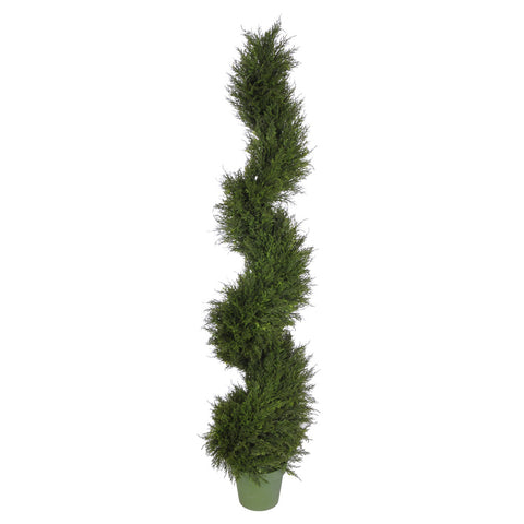 Artificial Juniper Spiral Topiary - House of Silk Flowers®  - 1