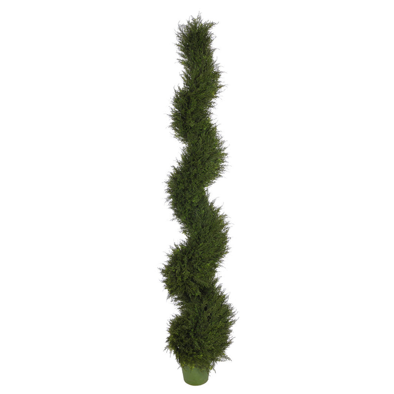 Artificial Juniper Spiral Topiary - House of Silk Flowers®  - 4