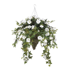 Artificial Morning Glory Hanging Basket - House of Silk Flowers®  - 3