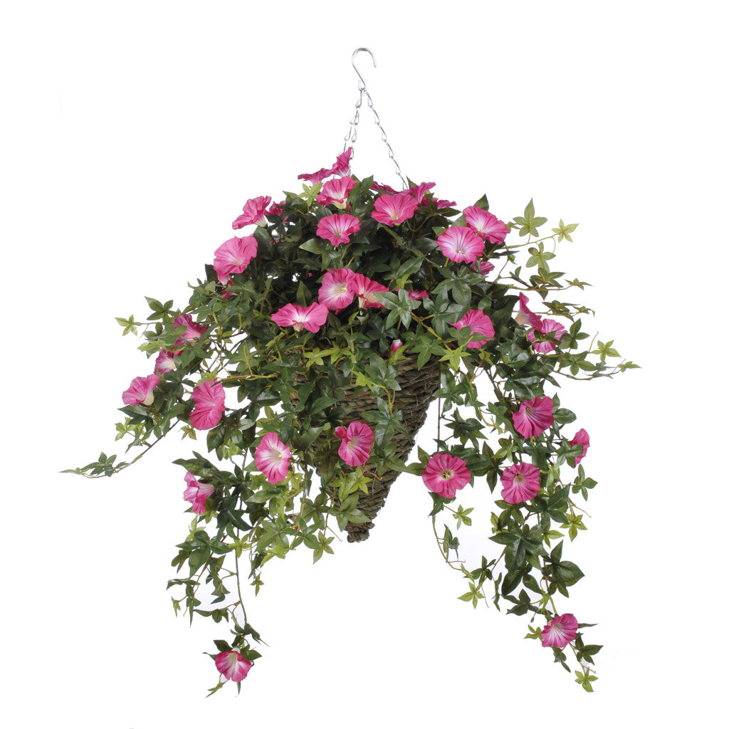 Artificial Morning Glory Hanging Basket - House of Silk Flowers®  - 4