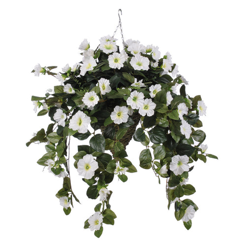 Artificial Petunia Hanging Basket - House of Silk Flowers®  - 5