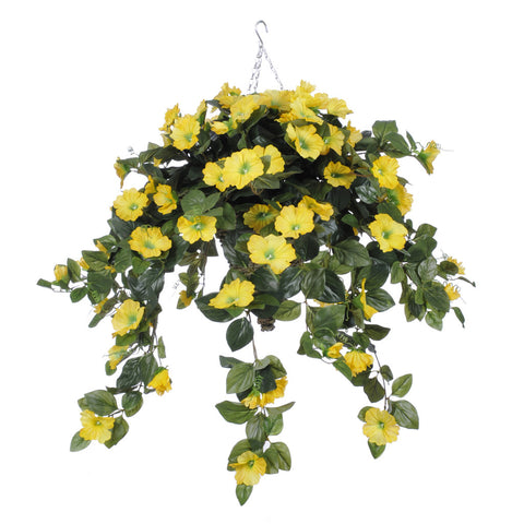 Artificial Petunia Hanging Basket - House of Silk Flowers®  - 6