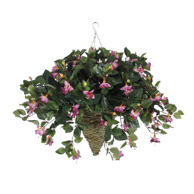 Artificial Fuchsia Hanging Basket - House of Silk Flowers®  - 3