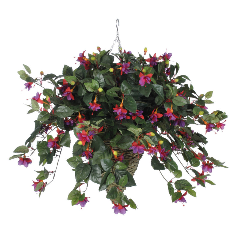 Artificial Fuchsia Hanging Basket - House of Silk Flowers®  - 4