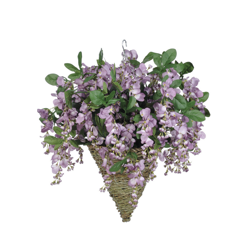 Artificial Wisteria Hanging Basket - House of Silk Flowers®  - 7