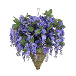 Artificial Wisteria Hanging Basket - House of Silk Flowers®  - 8