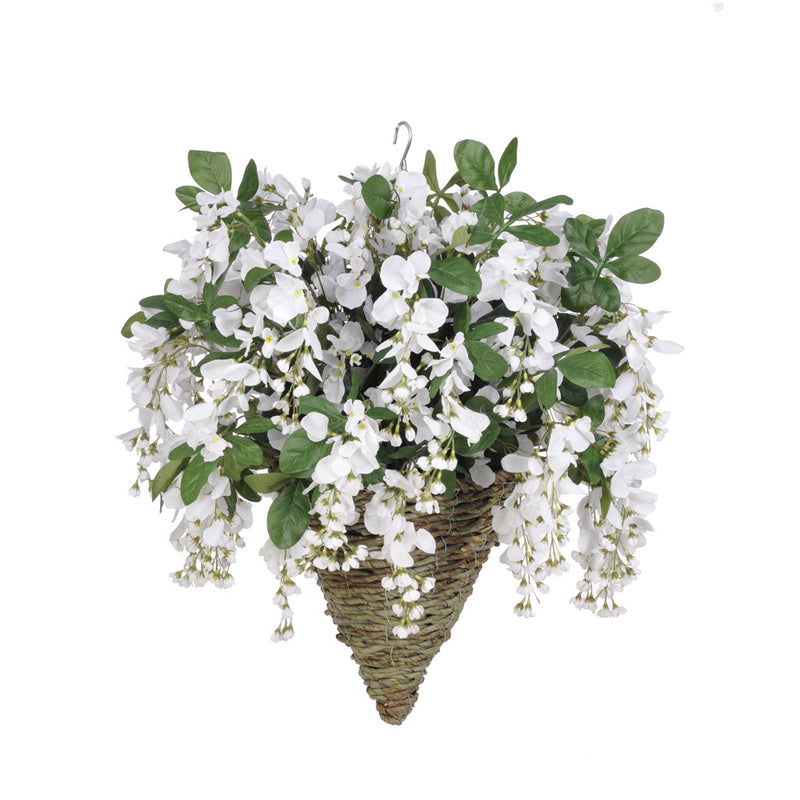 Artificial Wisteria Hanging Basket - House of Silk Flowers®  - 9