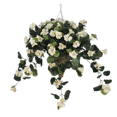 Artificial Nasturtium Hanging Basket - House of Silk Flowers®  - 2