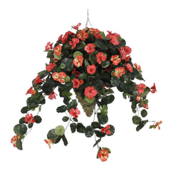 Artificial Nasturtium Hanging Basket - House of Silk Flowers®  - 3