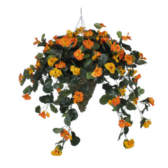 Artificial Nasturtium Hanging Basket - House of Silk Flowers®  - 4