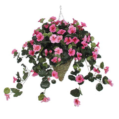 Artificial Nasturtium Hanging Basket - House of Silk Flowers®  - 5