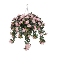 Artificial Azalea Hanging Basket - House of Silk Flowers®  - 5