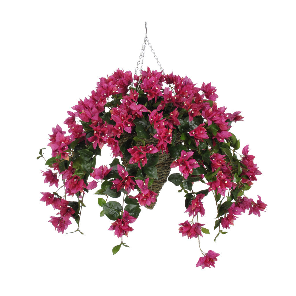 Artificial Bougainvillea Hanging Basket House Of Silk