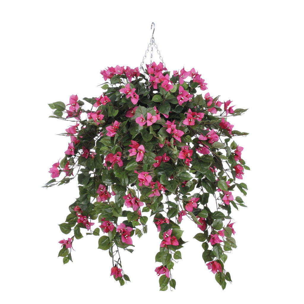 Artificial Mini Bougainvillea Hanging Basket - House of Silk Flowers®  - 2