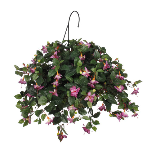 Artificial Fuchsia Hanging Basket - House of Silk Flowers®  - 1