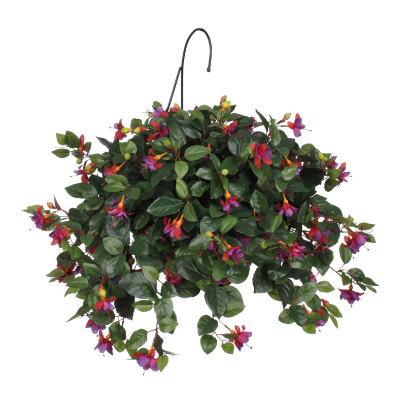 Artificial Fuchsia Hanging Basket - House of Silk Flowers®  - 2