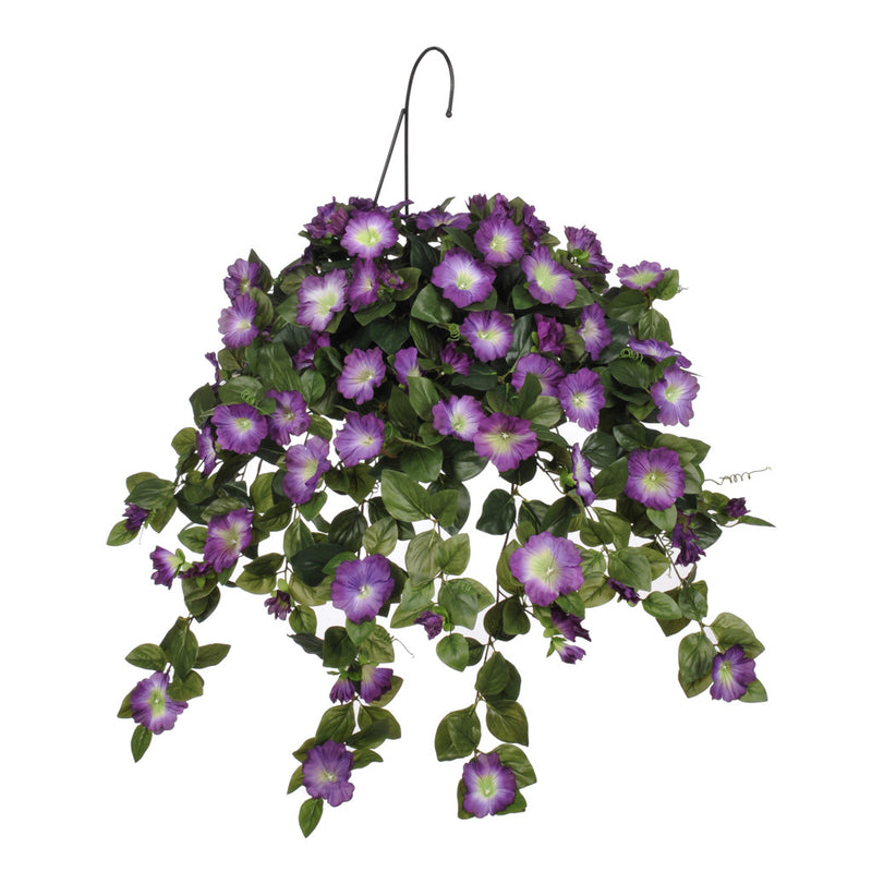 Artificial Petunia Hanging Basket - House of Silk Flowers®  - 1