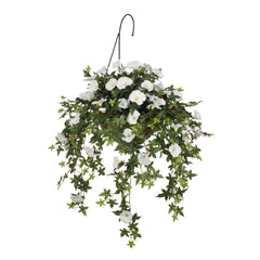 Artificial Morning Glory Hanging Basket - House of Silk Flowers®  - 1