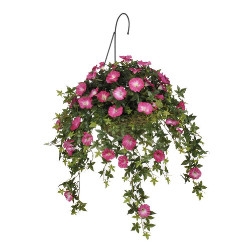 Artificial Morning Glory Hanging Basket - House of Silk Flowers®  - 2