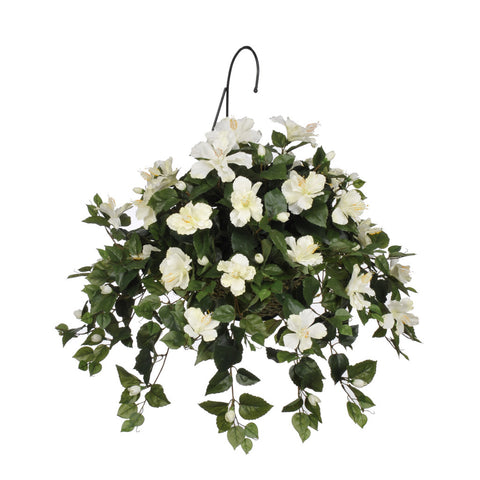 Artificial Hibiscus Hanging Basket