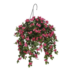 Artificial Mini Bougainvillea Hanging Basket - House of Silk Flowers®  - 1