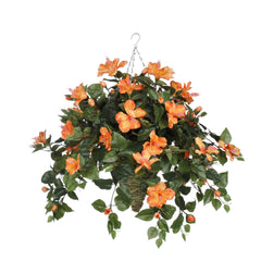 Artificial Hibiscus Hanging Basket - House of Silk Flowers®  - 7