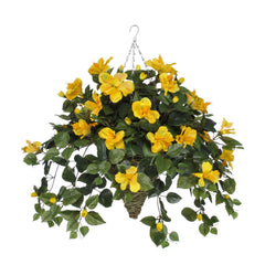 Artificial Hibiscus Hanging Basket - House of Silk Flowers®  - 10