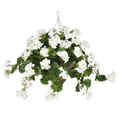 Artificial Geranium Hanging Basket - House of Silk Flowers®  - 4