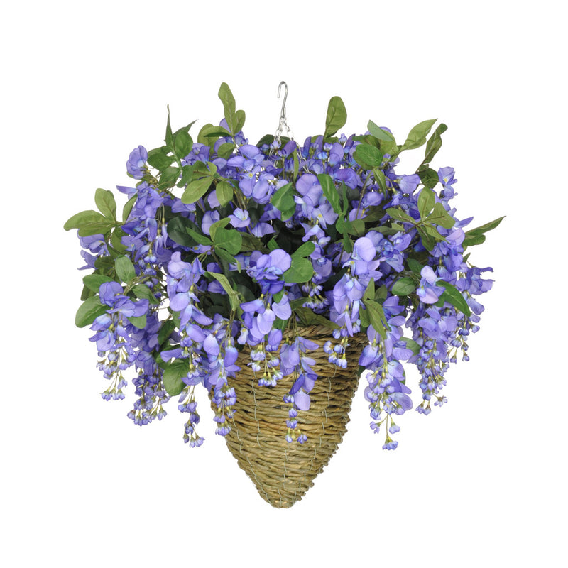 Artificial Wisteria Hanging Basket - House of Silk Flowers®  - 12