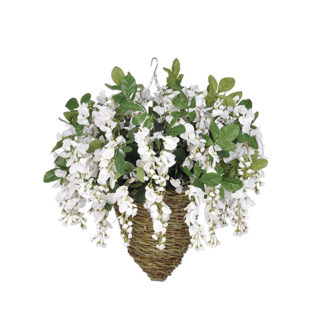 Artificial Wisteria Hanging Basket - House of Silk Flowers®  - 13
