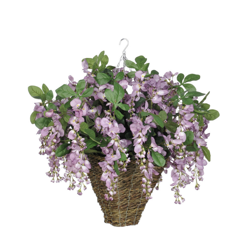 Artificial Wisteria Hanging Basket - House of Silk Flowers®  - 15