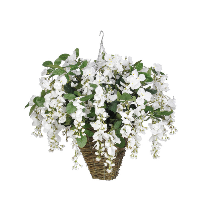 Artificial Wisteria Hanging Basket - House of Silk Flowers®  - 17
