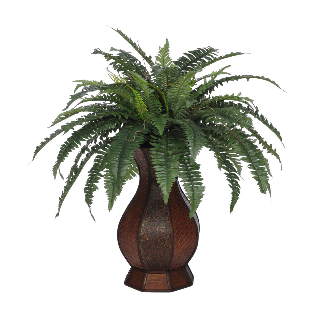 Artificial Fern in Genie Rattan - House of Silk Flowers®