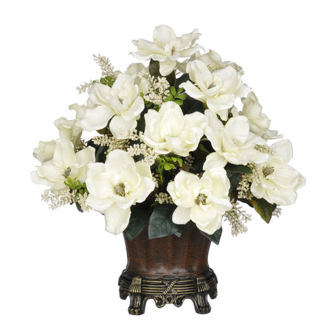 Artificial Magnolia with Astilbe in Traditional Urn - House of Silk Flowers®  - 1