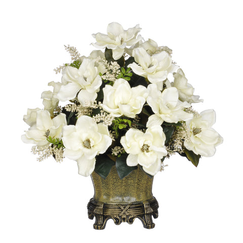 Artificial Magnolia with Astilbe in Traditional Urn - House of Silk Flowers®  - 2