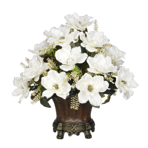 Artificial Magnolia with Astilbe in Traditional Urn - House of Silk Flowers®  - 3