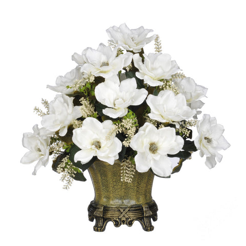 Artificial Magnolia with Astilbe in Traditional Urn - House of Silk Flowers®  - 4